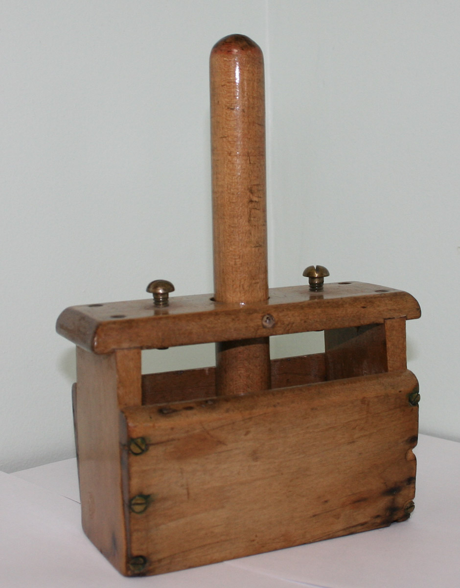Wooden Butter Press