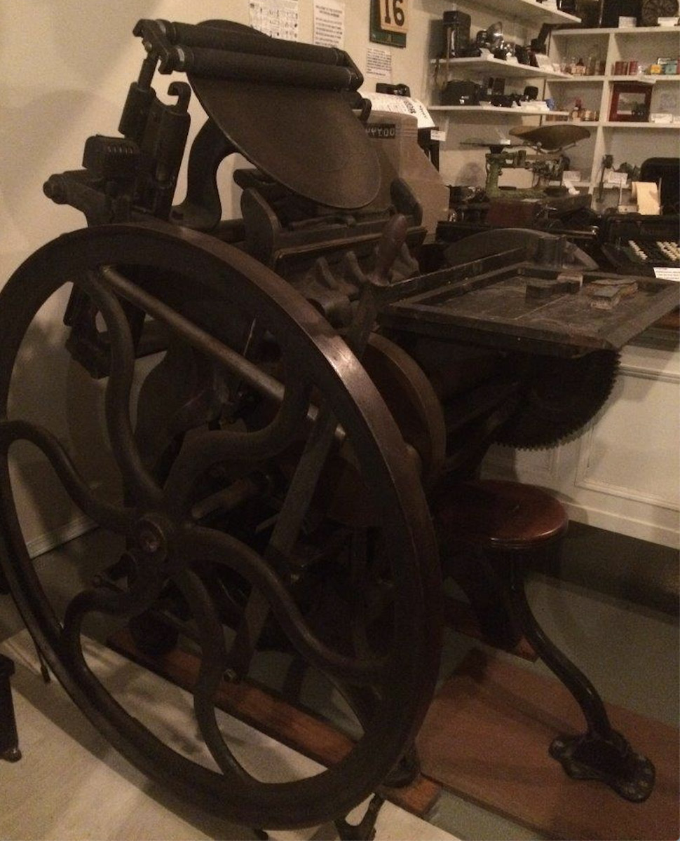 Golden Platen Printing Press